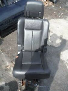 07 08 09 10 11 12 13 Ford Expedition Left Driver Rear Seat 2nd Row Black Leather