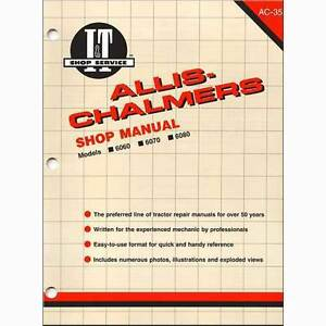 I t Shop Manual For Allis Chalmers 6060 6070 And 6080