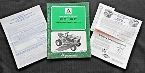 Genuine Allis Chalmers 816 Gt Lawn Garden Tractor Operators Manual Extras Nice