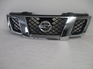 Oe Oem 09 14 Nissan Frontier Front Chrome Grill Grille With Emblem 62310zl00b