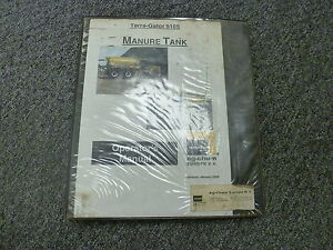 Terra Gator 9105 Ag Chem Manure Tank Owner Operator Maintenance Manual