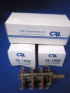 Crl Components Rotary Switch Sa 1008 3 Pole 2 11 Positions Lot Of 3 New