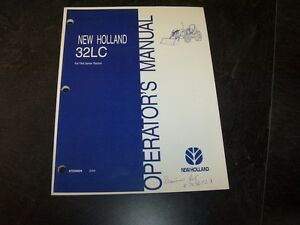 New Holland 32lc Front End Loader Tractor Owner Operators User Guide Manual