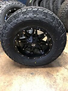 5 17 Fuel Hostage Black Wheels Jeep Wrangler Jk Tj 33 Fuel At Tires Package