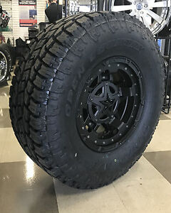 17 Xd Rockstar 3 Black Wheels 5x5 5 Dodge Ram 1500 35 Toyo At2 Tires Package