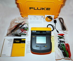 Fluke 1555 Kit 10 Kv Insulation Resistance Tester Kit W Hard Carrying Case New