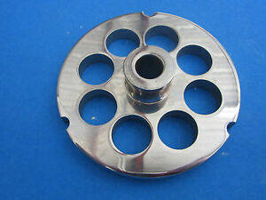 32 X 3 4 Meat Grinder Plate W Hub Stainless Fits Hobart Tor rey Lem