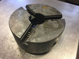 Bison 10 10 Inch 3 jaw Adjust Lathe Chuck Plain Back South Bend
