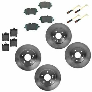 Front Rear Ceramic Brake Pad Rotor Kit W Sensors For Mercedes Benz New