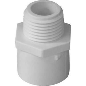 300 Pk Genova Pvc Sch 40 Pipe 1 Solvent Weld X Male Thread Adapter 30410