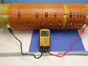 0375 Massive Rf Inductor Coil 10kw Tuner 660uh 19 Taps