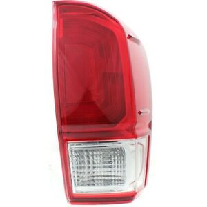 Tail Light For 2016 2017 Toyota Tacoma Rh W Bulb s Red Lens