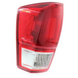 Tail Light For 2016 2017 Toyota Tacoma Lh W Bulb S Red Lens