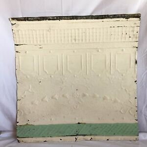 1890 S 24 X 24 Antique Reclaimed Tin Ceiling Tile Ivory 186 17 Anniversary