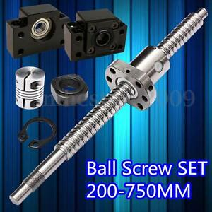 Sfu1605 Antibacklash Ball Screw L250mm 750mm Bk12 Bf12 6 35x10mm Coupler Set