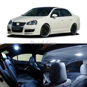 11 X White Led Interior Light For 2005 2010 Volkswagen Vw Jetta Mk5 Tool