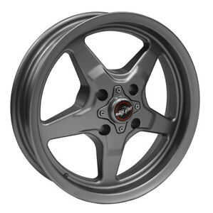 Race Star 91 Drag 15x3 75 4x100 22 2 Off Metallic Grey Wheel Rim Honda Mustang