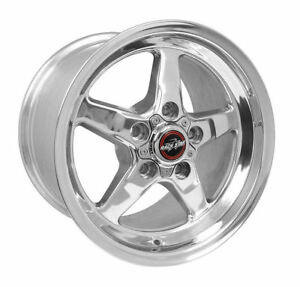 Race Star 92 Drag 15x10 5x4 50 44 Offset Polished Wheel Rim Ford Mustang
