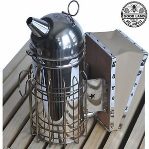 Professional Beekeeping Kit Smoker Frame Spacer Serrated Knife Roller Gltoolse1