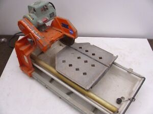 10 Wet Tile Saw Mk 101 Pro24 Diamond Edge Cutter Circular Ceramic Cutting Used