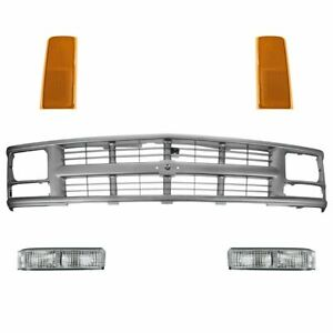 Grill Headlight Parking Light Kit Set For Chevy Gmc C K Blazer Suburban Tahoe