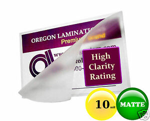 Hot 10 Mil Matte Legal Laminating Pouches 9 X 14 1 2 100 For 8 5 X 14 Sheets