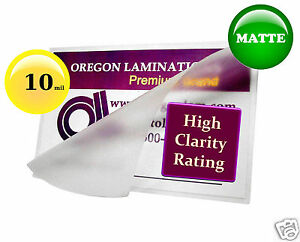 200 Matte 10 Mil Legal Hot Laminating Pouches 9 X 14 1 2 For 8 5 X 14 Sheets