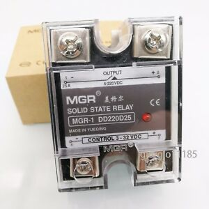 Us Stock 25a Solid State Relay Ssr Dc dc Input 3 32v Dc Load 5 220v Dc Dd220d25