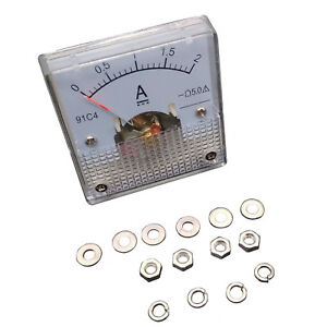 Us Stock Dc 0 2a Analog Amp Current Pointer Needle Panel Meter Ammeter 91c4
