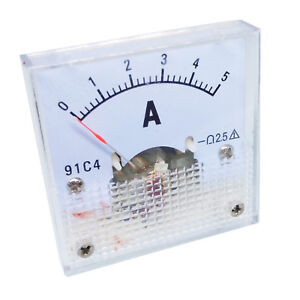 Us Stock Dc 0 5a Analog Amp Current Pointer Needle Panel Meter Ammeter 91c4