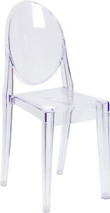 Lot Of 10 Ice Cream Yogurt Shop Transparent Ghost Crystal Chair