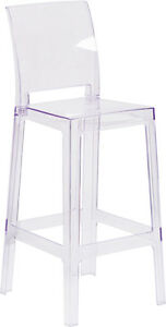 Lot Of 10 Ice Cream Yogurt Shop Transparent Ghost Crystal Stool With Square Back