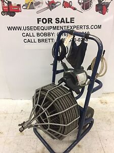 Electric Eel 3 4 100 Drain Cleaner Sewer Snake Model R Cleaning Machine Used