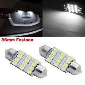 2pcs 6418 C5w Led Bulbs 36mm Festoon Car License Plate Lights Bulbs For Kia