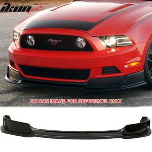 Fits 13 14 Ford Mustang Gt Convertible Front Bumper Lip Painted Ebony Ua