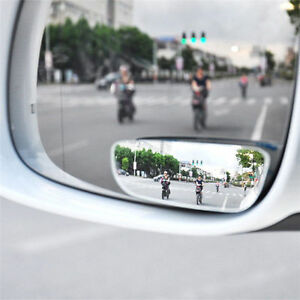 2x Universal Car 360 Wide Angle Rear Side Mirror Blind Spot Mirror Adjustable