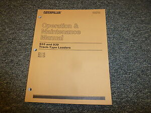Cat Caterpillar 933 939 Track Type Loaders Owner Operation Manual