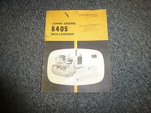 John Deere 6405 Bulldozer Owner Operator Manual Omt26184