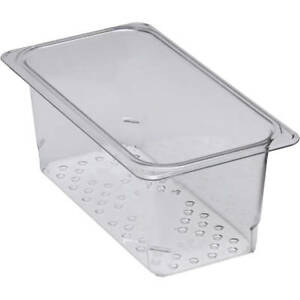 Cambro Perforated Pan Colander 1 3 Gn 5 Deep 6pk Clear 35clrcw 135