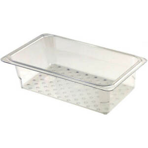 Cambro Perforated Pan Colander 1 3 Gn 3 Deep 6pk Clear 33clrcw 135
