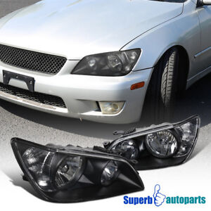For 2001 2005 Lexus Is300 Black Headlights Head Lamps Replacement Clear Pair