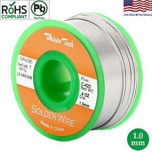 Lead Free Solder Wire Sn99 3 Cu0 7 With Rosin Core For Electronic 3 5oz 1 0mm
