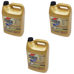 3 Gallons Pack Zerex Engine Coolant Antifreeze Fluid Yellow For Acura Honda