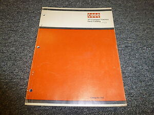 Case 117 Compact Utility Tractor Part Catalog Manual 9646801