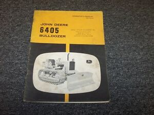 John Deere 6405 Bulldozer Dozer Crawler Owner Operator User Manual Book Omt26184