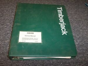 Timberjack 330 430 Log Loader Delimber Shop Service Repair Manual Book F278359