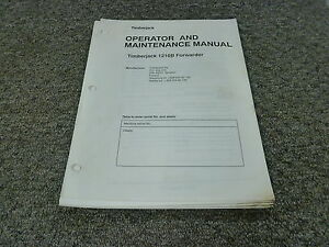 Timberjack 1210b Forwarder Logging Owner Operator Maintenance Manual 12100465 up