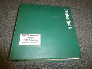 Timberjack 1410b Forwarder Skidder Logging Parts Catalog Manual Manual F060125