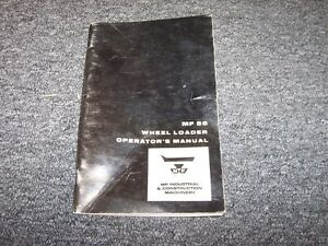 Massey Ferguson 55 Wheel Loader Tractor Owner Operator User Guide Manual Book