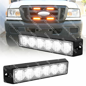 2pc 6w Led Ems Police Firefighter Personal Vehicle Strobe Warning Light white